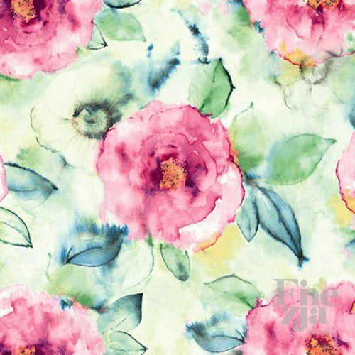 Wallquest Big Rose Fabric JA41201F