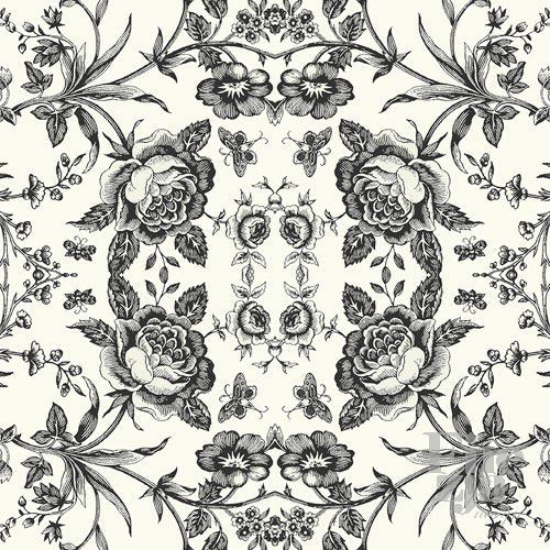 Wallquest Black & White BW21610