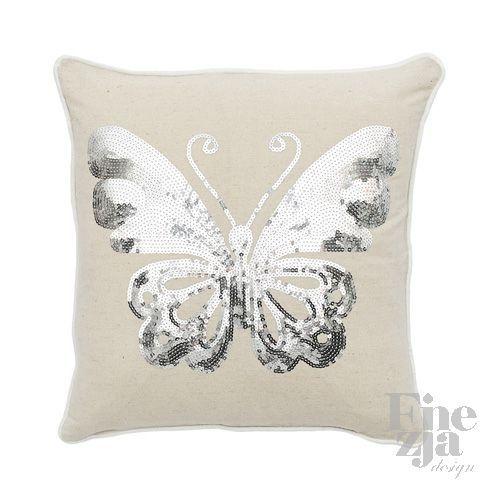 Poduszka Silver Butterfly